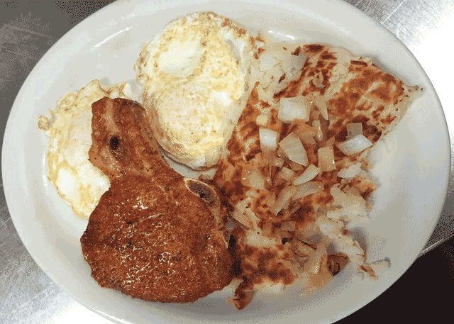 Pork Chop Breakfast Special